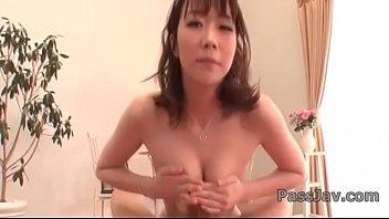 Hitomi Oki provides pleasure on a fat dick