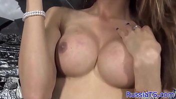 Bigtit russian tgirl dildoing her butthole