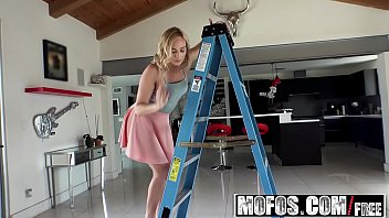 Mofos - Lets Try Anal - Hot Blonde Beats Fear of Anal starring  kate England and Ryan Driller