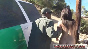 Blonde cop interracial Latina Babe Fucked By the Law