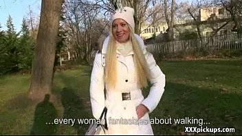 fledgling czech woman gives head in public for.