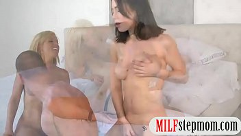 Teen caught her milf having sex in bed
