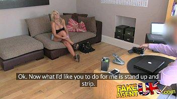 FakeAgentUK Beautiful blonde MILF gives outstanding blowjob