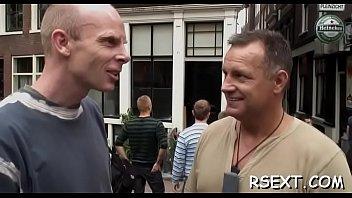elder stud takes a walk in the amsterdam.