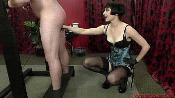 dominatrix vera doll domination joy with sub on rack