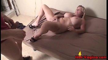 Big Tits Blonde Gets A Facial POV