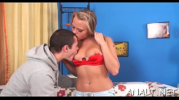 Stud is testing sweethearts anal limits with his rough pounding