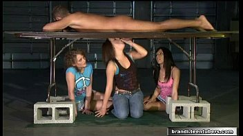 brandi belle trio very first-timer teenager gals and.