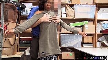 supah-hot black shoplifting teenager rock hard humped by.