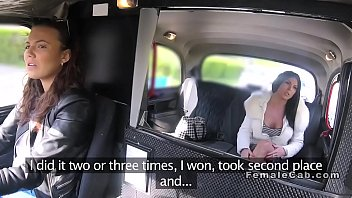 buxomy cab driver slurps chesty lezzie.