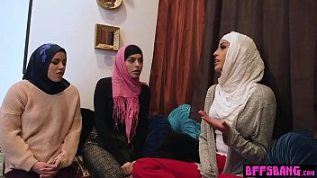 muslim teenage bride and finest pals plumb a.