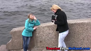 Teeny lesbian fingered