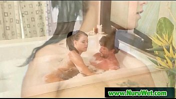 kinky customer gets a nuru rubdown from sensuous.