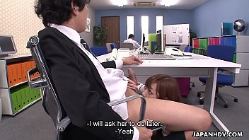 jism-shotgun blowing japanese assistant receives a mouthhole from.