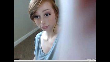Sexy Teen Redhead Masturbating for the Webcam Tenhorncams.eu
