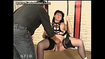 sub with needles gets her gash caked with.