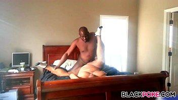 black plumper gets poked