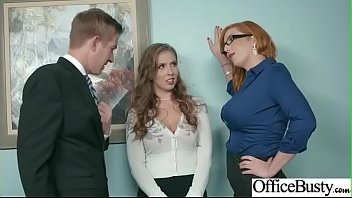 fuckfest in office with humungous obese udders gal.
