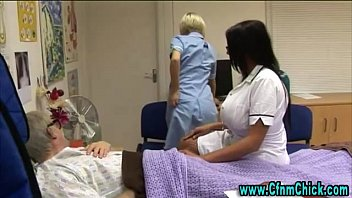 mischievous cfnm nurses get wild
