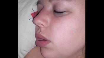 jizz shot boobies wifey sleeping