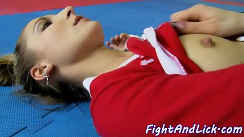 glam stunners grapple before oral pleasing