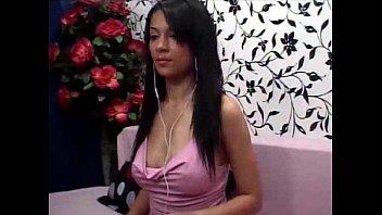 Sexy latina webcam girl riding her dildo hard totally nude