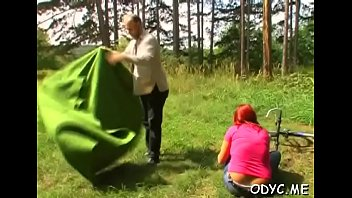 breasty nubile makes this older man one satiated camper