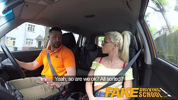 faux driving school immense boulder-owner-stuffers silver-blonde gets drilled.