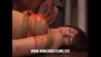 crimson-hot japanese teenage waxed on her.