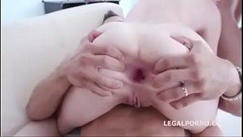 dual anal penetration destination with kiara gold ball.