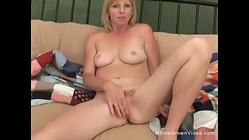 light-haired cougar takes a wood up.
