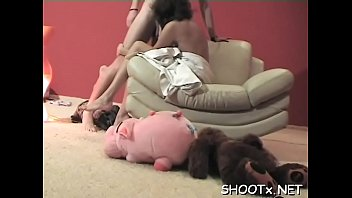Sloppy blowjob and a ideal fuck session from curvy teen