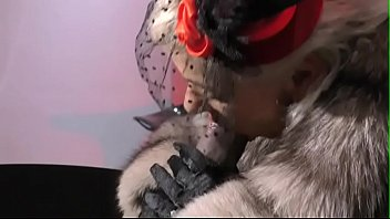Vanessa in Furs - Smoking and playing with a big black toy - Milf Mature Cougar