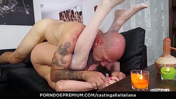 CASTING ALLA ITALIANA - Anal fuck and gape with playful Italian mature