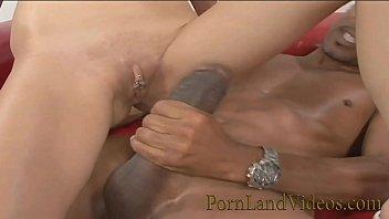 sexy brunette slut Kristy picked up by big black cock