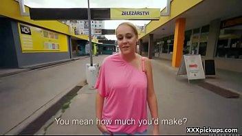 Public Pickup - Teen Amateur European Whore Suck Dick For Money 32